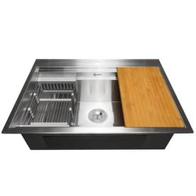 Stainless Steel Single Bowl Kitchen Sinks At Lowes Com