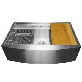 AKDY 30u0022x20u0022x9u0022 Apron Farmhouse Handmade Stainless Steel Kitchen Sink