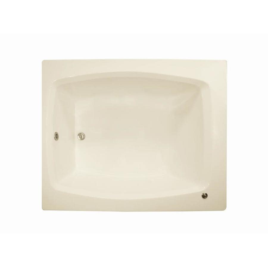 Watertech Watertech Biscuit Acrylic Rectangular Bathtub With