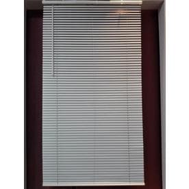 vinyl window blinds home project source 1in cordless white vinyl mini blinds common 34in at lowescom