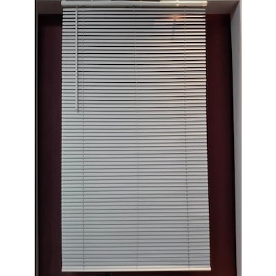 1 In Cordless White Vinyl Light Filtering Mini Blinds Common 45 In Actual 44 5 In X 64 In
