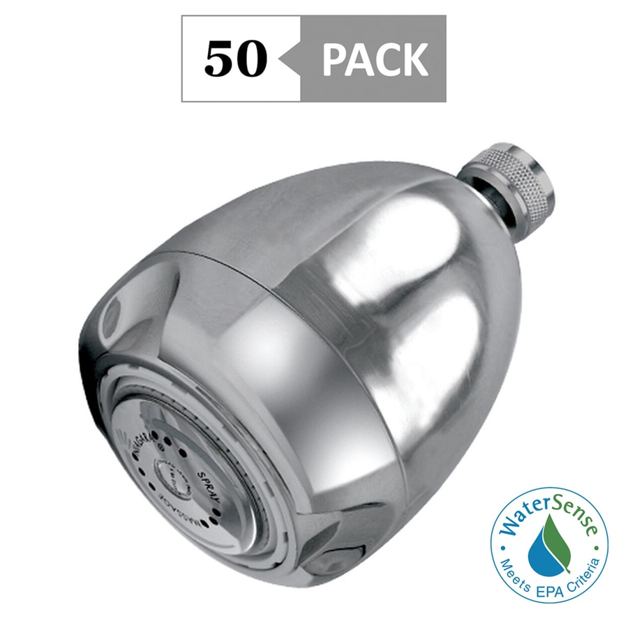 Niagara Conservation 50-Pack 2.75-in 1.25-GPM (4.73-LPM) Chrome 3-Spray WaterSense Showerhead