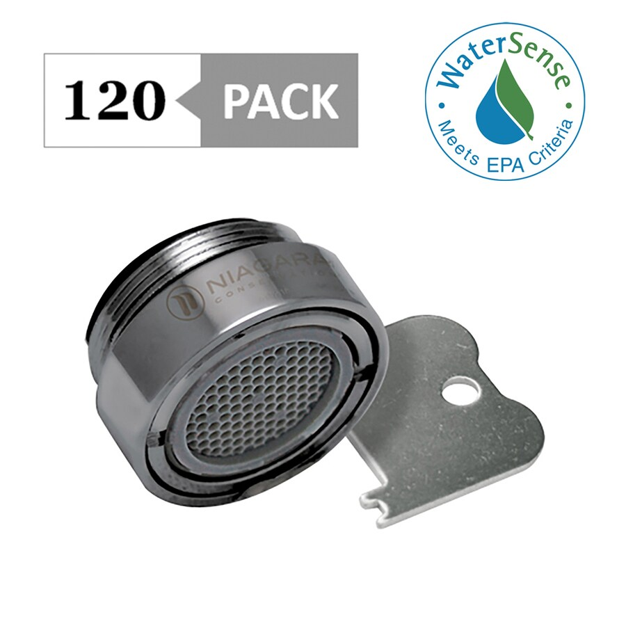 Niagara Conservation 120-Pack 15/16-in x 27-in Chrome Water Saving Aerator