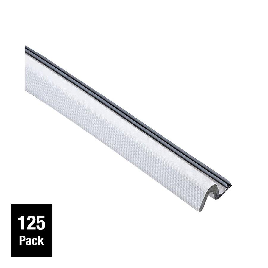 Simply Conserve 125-Pack 2-in x 7-ft White Vinyl Clad Foam Door Weatherstrip