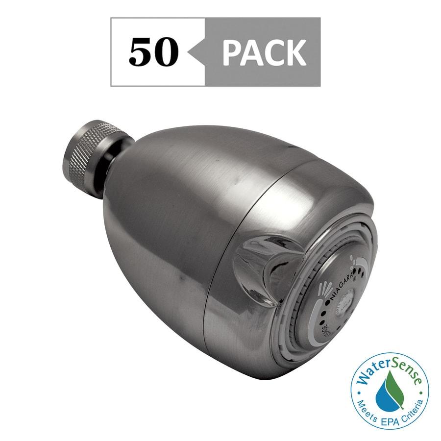 Shop Niagara Conservation Brushed Nickel 3 Spray Shower