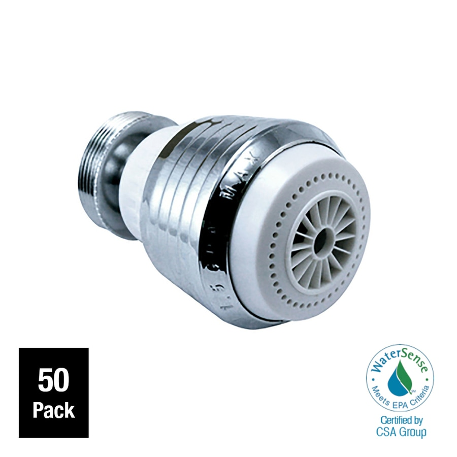 Niagara Conservation 50-Pack 15/16-in x 27-in, 55/64-in x 27-in Chrome Water Saving Aerator