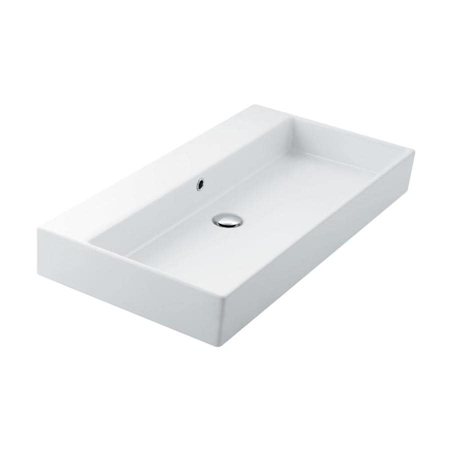 Ws Bath Collections Unlimited White Ceramic Wall Mount