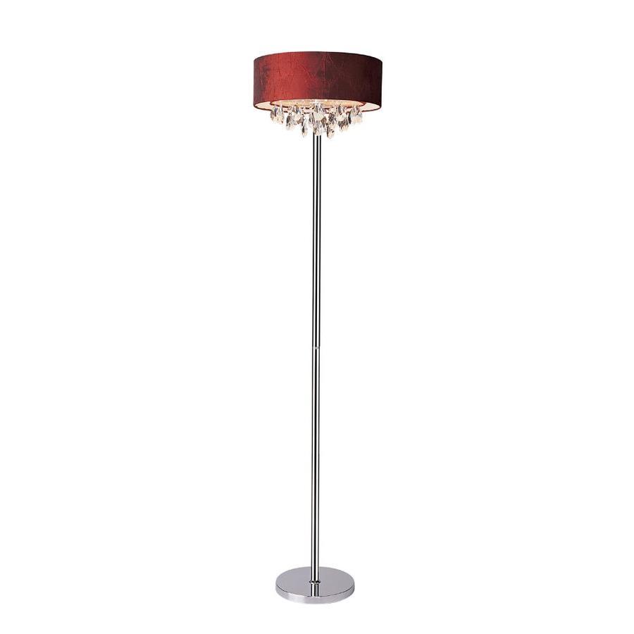 indoor floor lamps aliexpress elegant designs 65in chrome indoor floor lamp with fabric shade shop