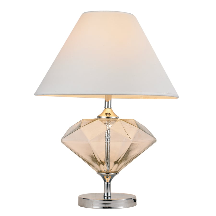 Shop elegant designs white indoor table lamp with for Table lamp design ideas