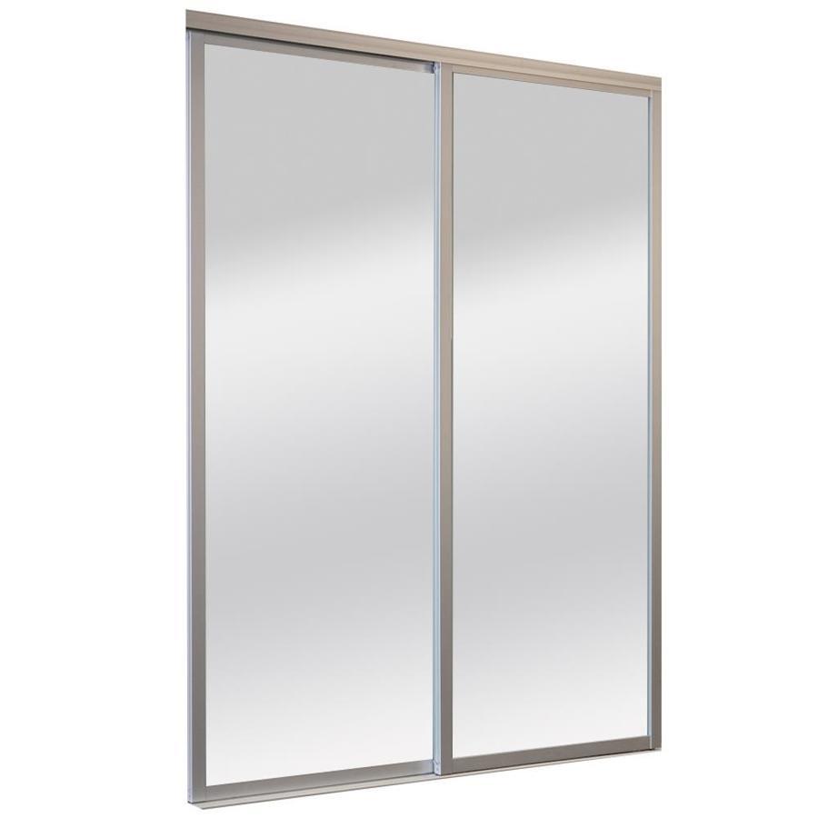 ReliaBilt 9800 Series Boston By-Pass Door (glass/mirror) Sliding closet Interior Door (Common: 60-in x 96-in; Actual: 60.0 x 96.0)
