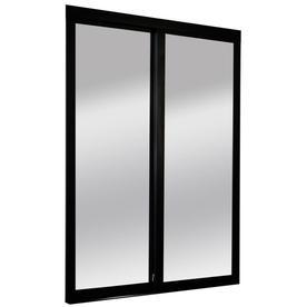 ReliaBilt 9700 Series Northwood Mirror Wood Pine Sliding Closet Interior  Door With Hardware (Common: