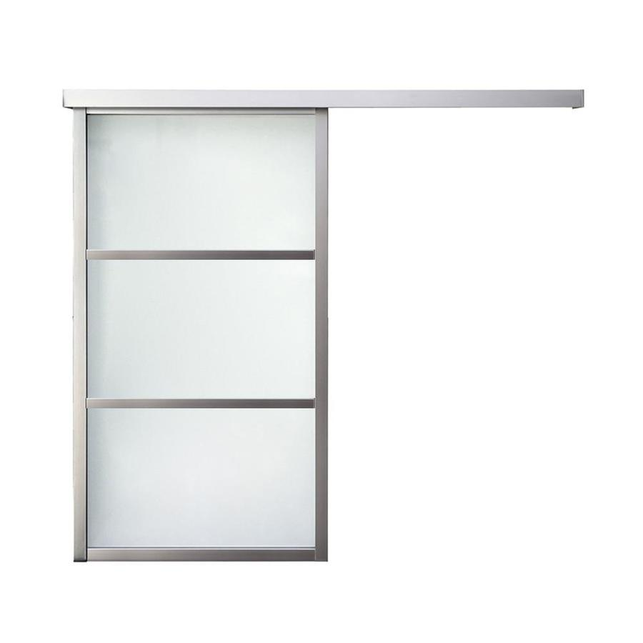 Shop reliabilt 9851 series boston wall slider frosted for Interior 96 inch doors