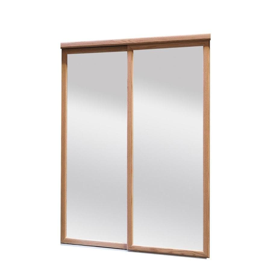 Reliabilt 9750 Series Oak Mirror Panel Wood Oak Sliding