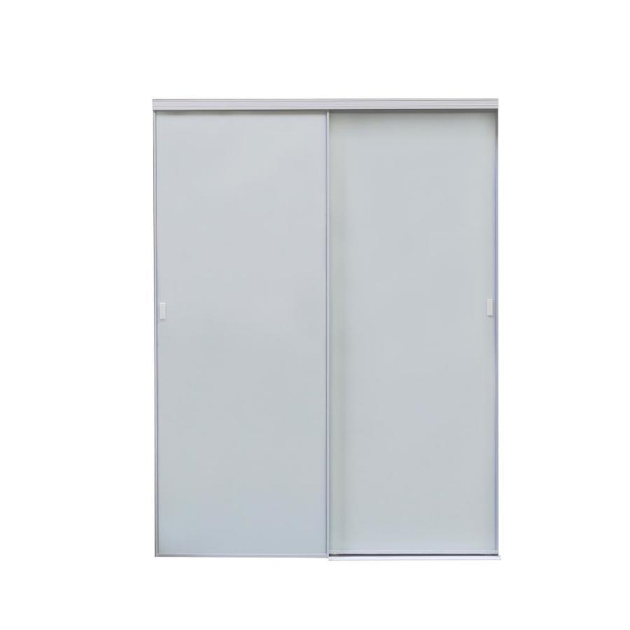 ReliaBilt 9250 Series Seymour Aluminum Sliding Closet Interior Door with Hardware (Common: 48-in x 80-in; Actual: 48-in x 80-in)