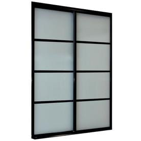 ReliaBilt 9800 Series Boston By-Pass Door (glass/mirror) Frosted glass Sliding closet Interior Door (Common: 60-in x 96-in; Actual: 60.0 x 96.0)
