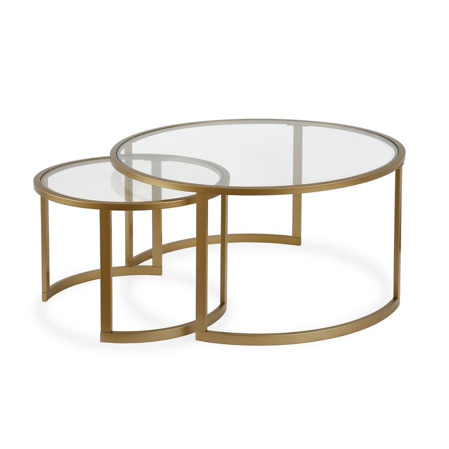 Hailey Home Mitera Blackened Bronze Glass Coffee Table In The Coffee Tables  Department At Lowes.com