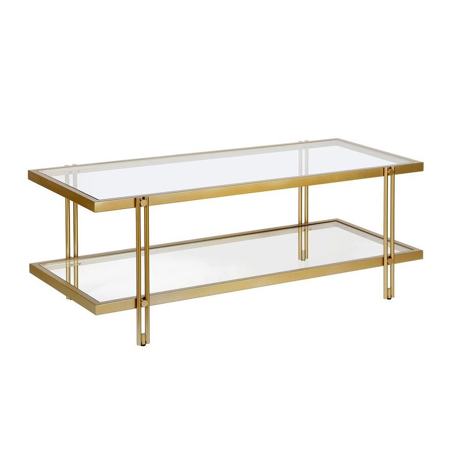 Hailey Home Inez Brass Metal Coffee Table In The Coffee Tables Department At Lowes Com