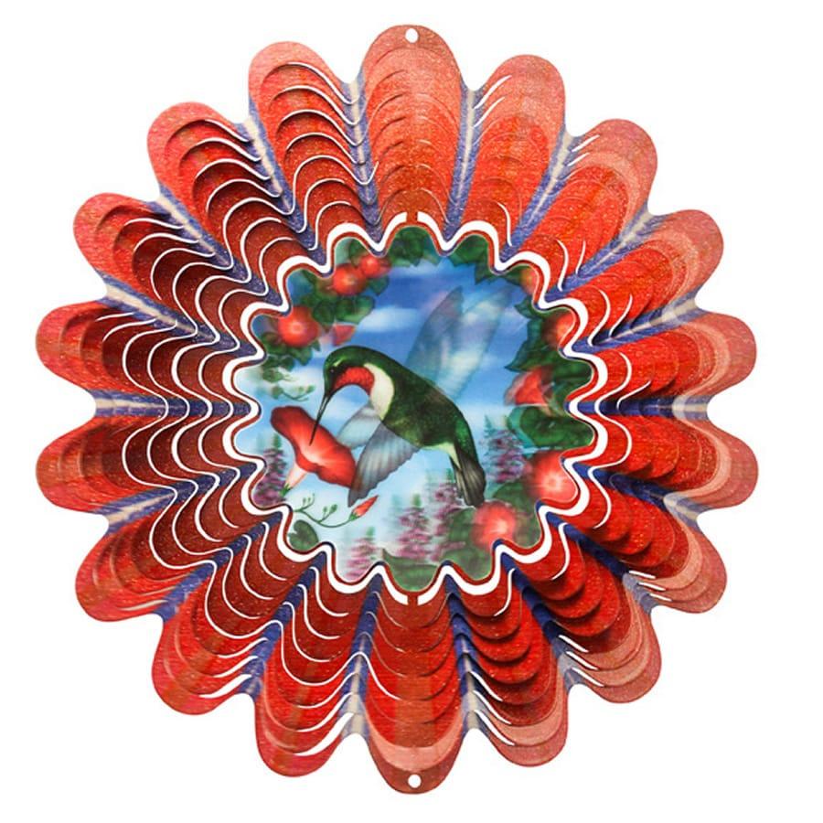 Iron Stop Hummingbird Red Steel Wind Spinner