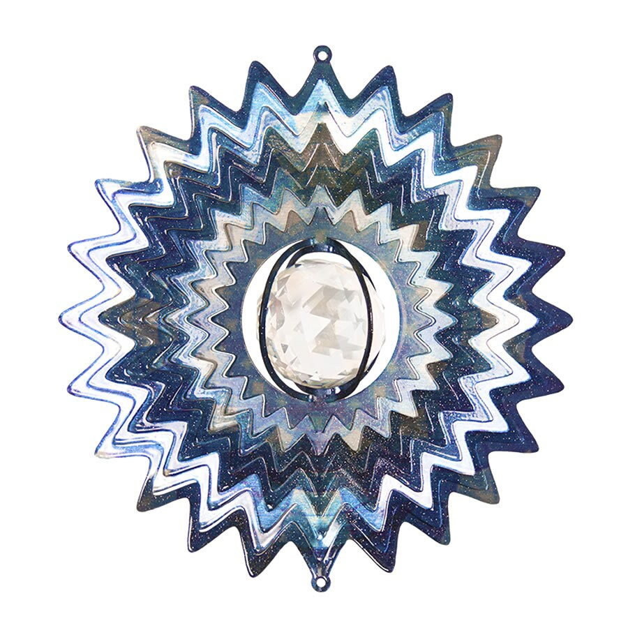 Iron Stop Whimsical Blue Steel Wind Spinner
