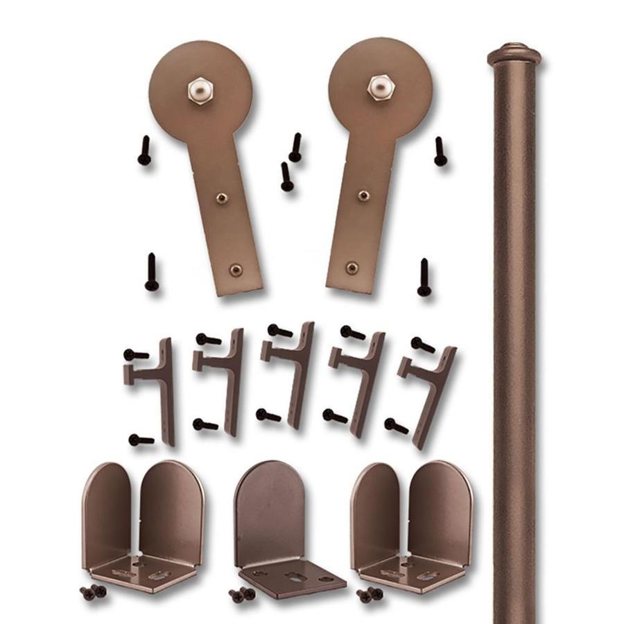 Cheap Hardwood Flooring Murphy Nc: Quiet Glide 72-in Bronze Interior Side Mount Barn Door Kit
