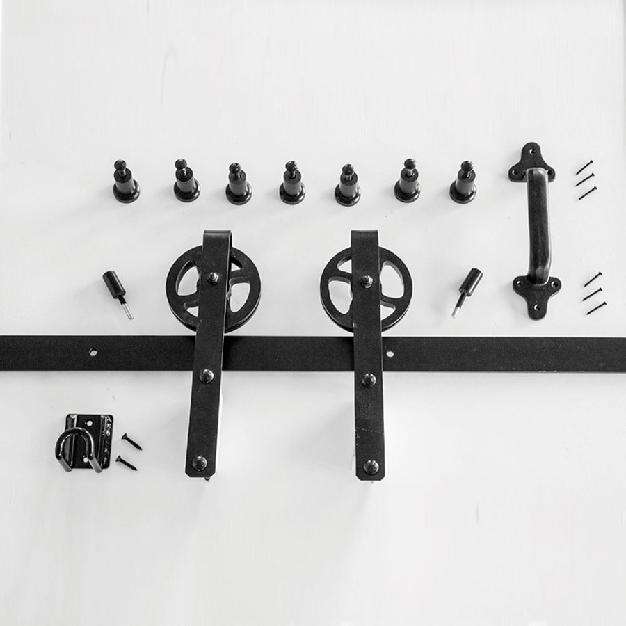 HP 96 In Matte Black Side Mount Barn Door Kit