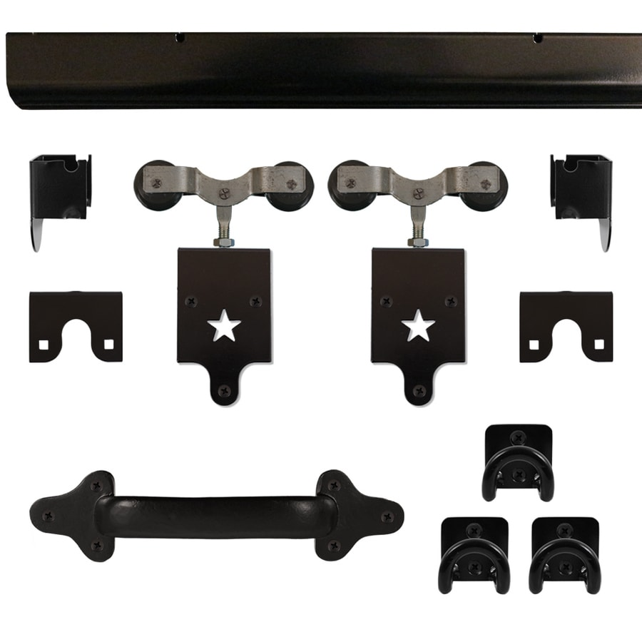 Quiet Glide 96-in Matte Black Aluminum Side Mount Sliding Barn Door Kit