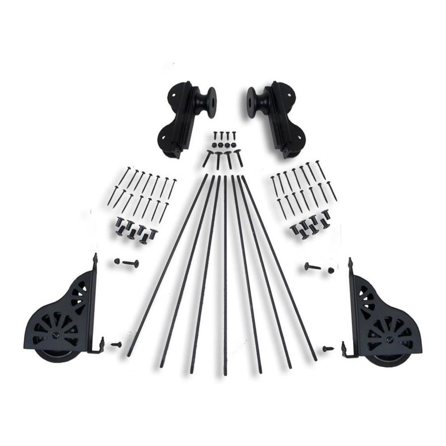 Quiet Glide Black Library Ladder Hardware Kit