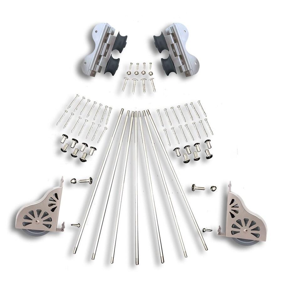 Quiet Glide Satin Nickel Library Ladder Hardware Kit