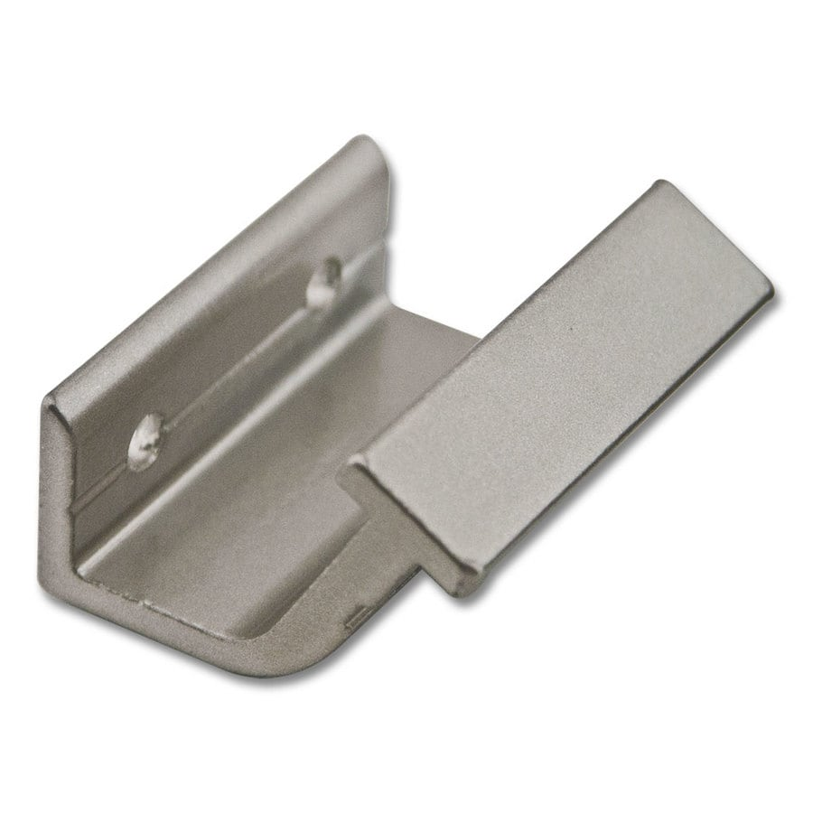 Quiet Glide Satin Nickel Library Ladder Hook Bracket
