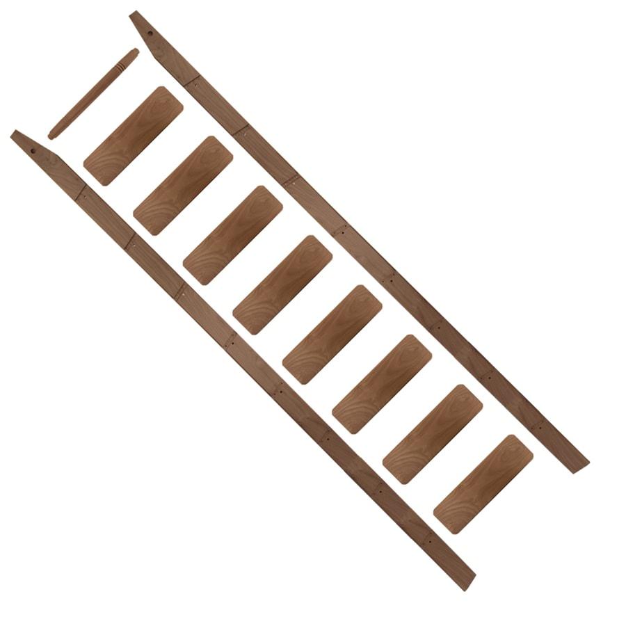 Quiet Glide 9-ft Unfinished Walnut Library Ladder