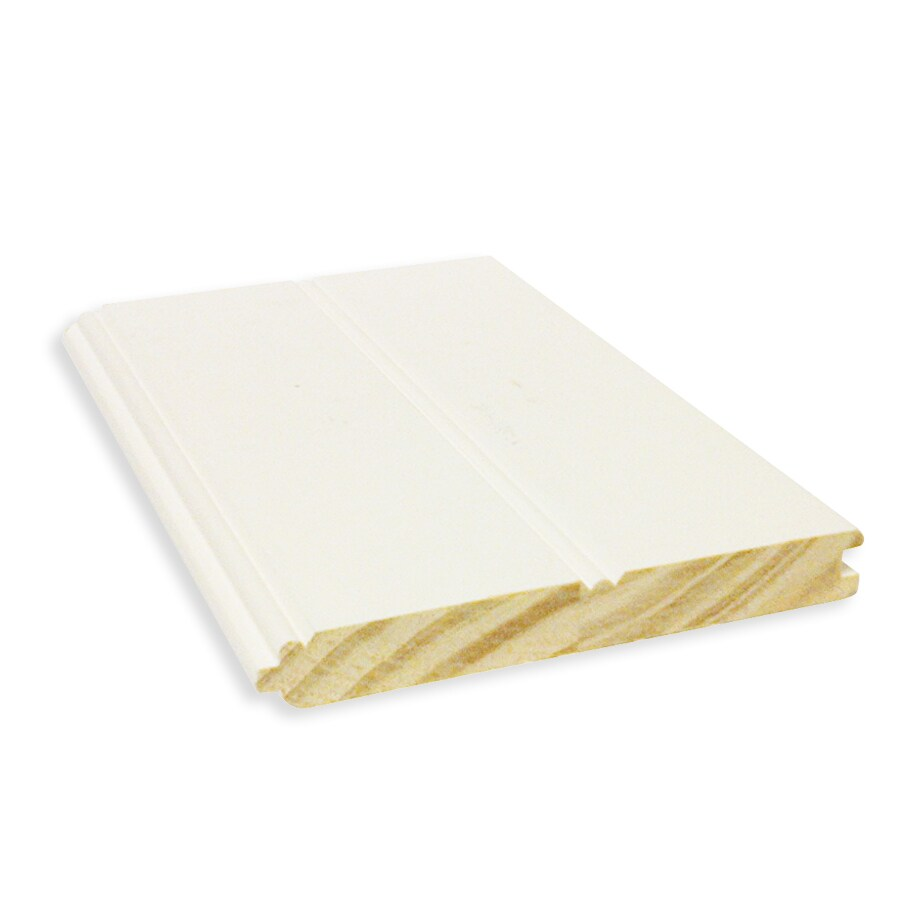 (Common: 1-in x 6-in x 12-ft; Actual: 0.75-in x 5.5-in x 12-ft) Tongue and Groove Pattern Stock Primed Pine Board