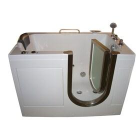 Northeastern Bath 52 In White Acrylic Rectangular Right Hand Drain Walk In  Whirlpool