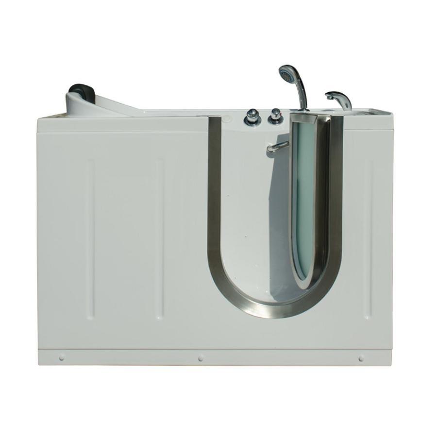 Northeastern Bath 52-in L x 29.5-in W x 40-in H White Acrylic Rectangular Walk-in Air Bath