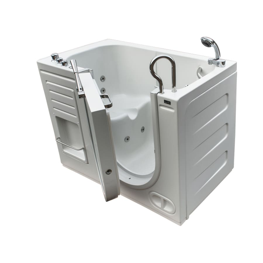 Northeastern Bath 51-in White Acrylic Walk-In Whirlpool Tub with Right-Hand Drain