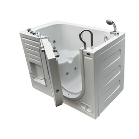 Northeastern Bath 51 In White Acrylic Rectangular Right Hand Drain Walk In  Whirlpool