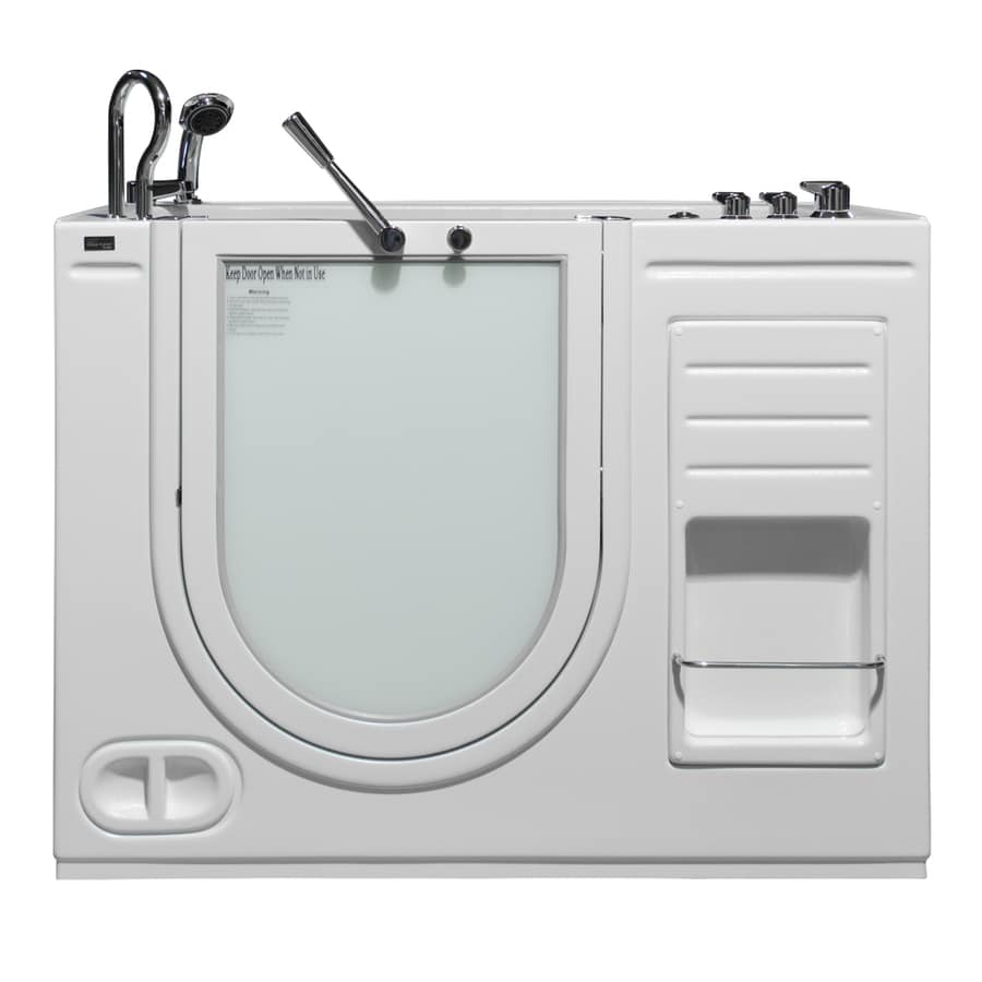 Northeastern Bath 51-in L x 29-in W x 42-in H White Acrylic Rectangular Walk-in Air Bath