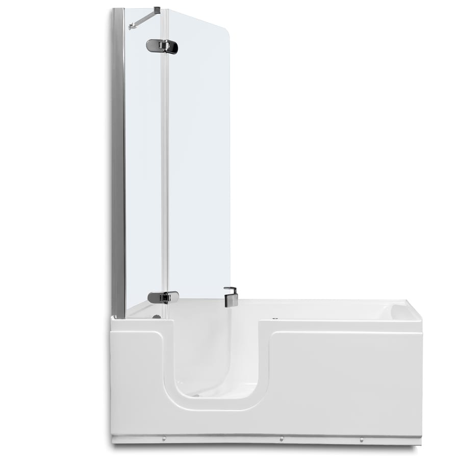 Northeastern Bath White Acrylic Rectangular Walk-in Bathtub with Left-Hand Drain (Common: 30-in x 59-in; Actual: 24-in x 30.125-in x 59.1875-in)