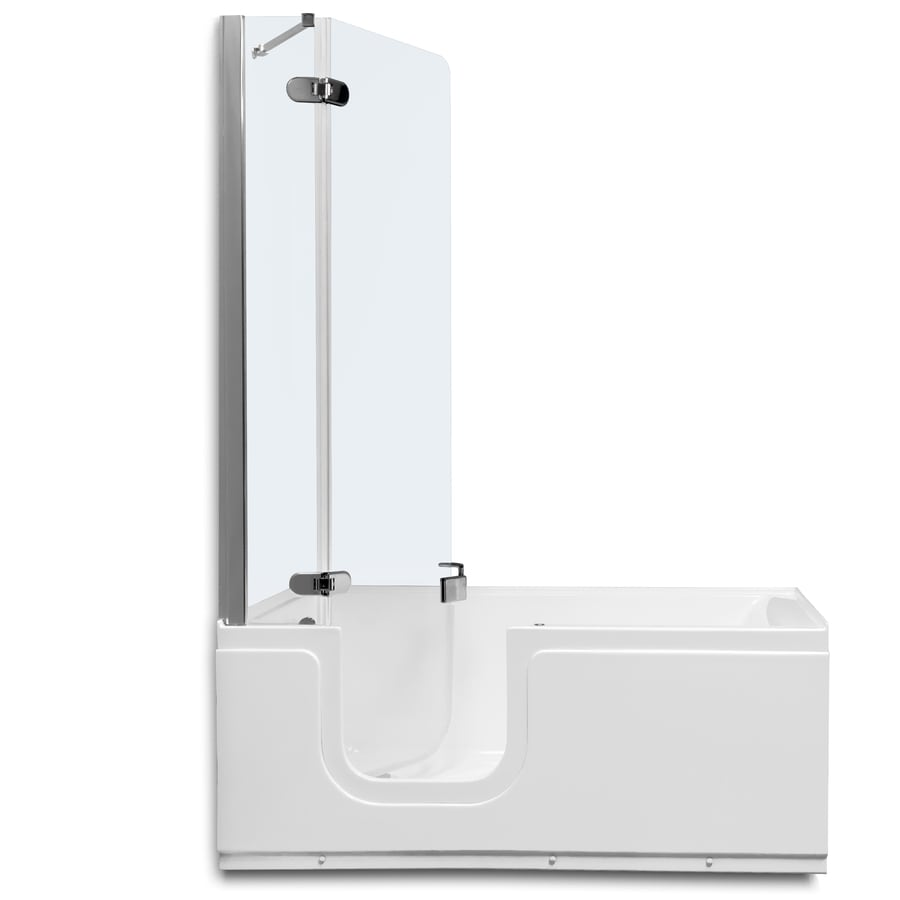 Northeastern Bath 59-in White Acrylic Walk-In Air Bath with Left-Hand Drain