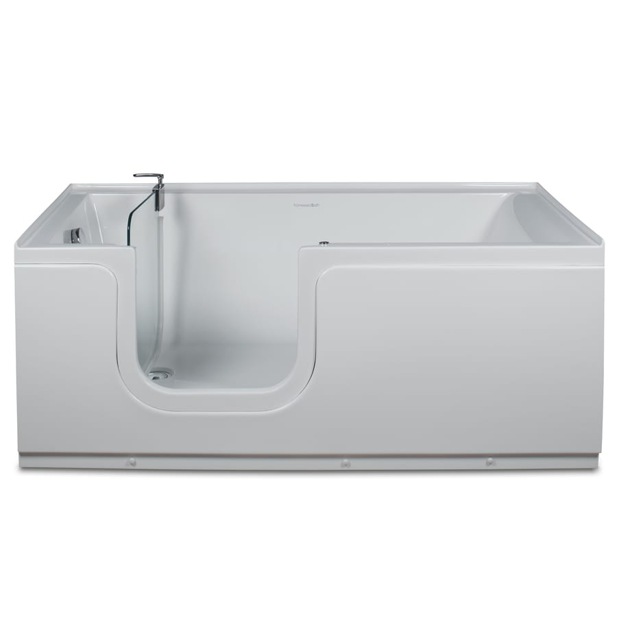 Shop Northeastern Bath White Acrylic Walk In Bathtub With Left Han