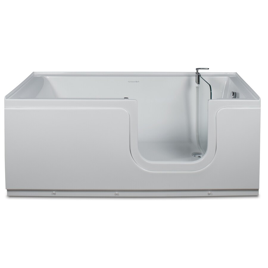 Northeastern Bath 59.1875-in White Acrylic Walk-In Bathtub with Right-Hand Drain