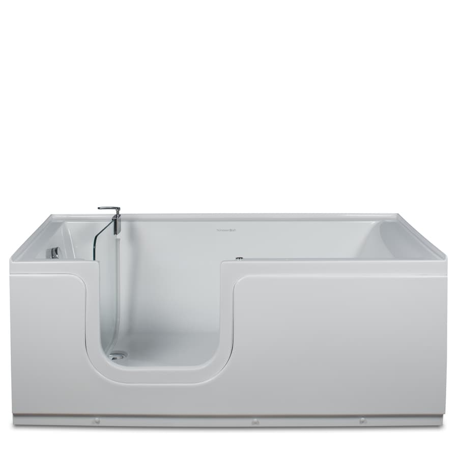 Northeastern Bath 59-in L x 30-in W x 24-in H White Acrylic Rectangular Walk-In Air Bath