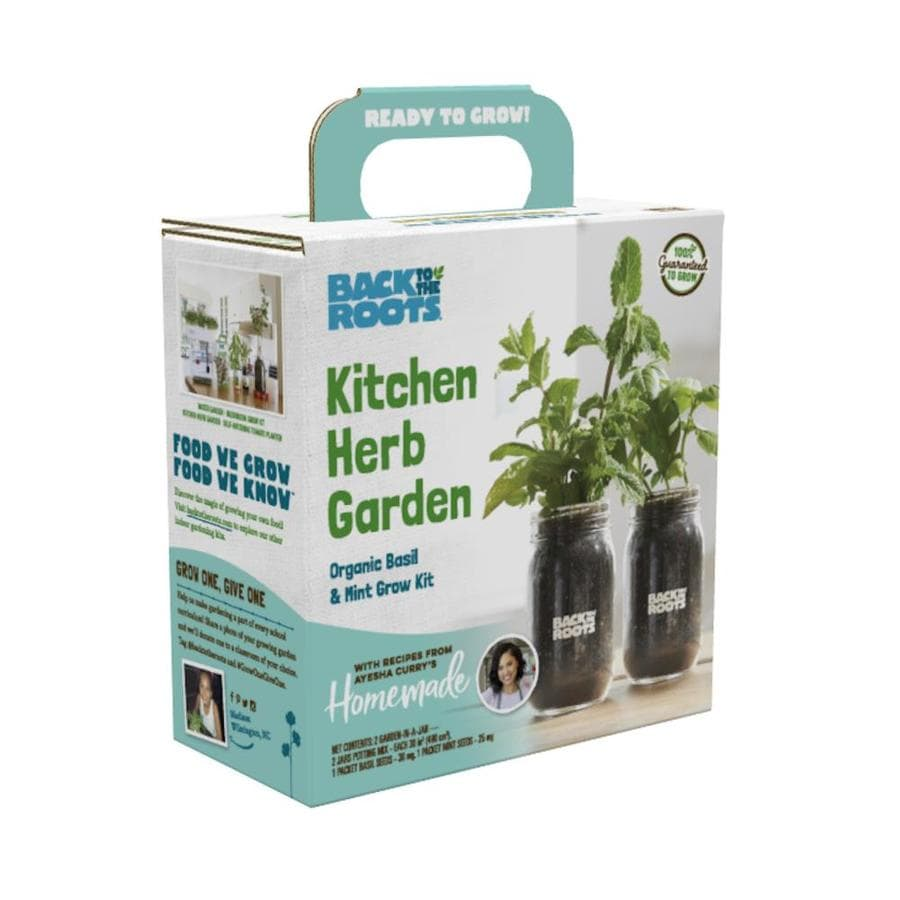 Kitchen Garden Kit: Back To The Roots Kitchen Herb Garden Organic Basil & Mint