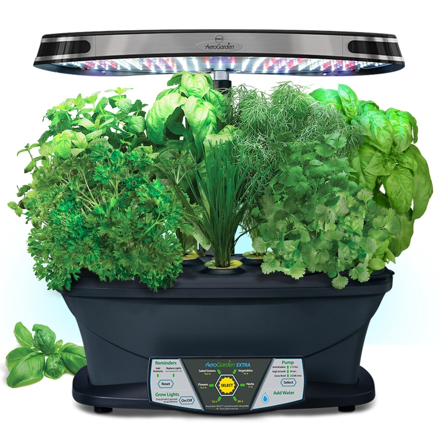 Aerogarden Extra Led Hydroponic System 24 In Maximum Plant Growth Height