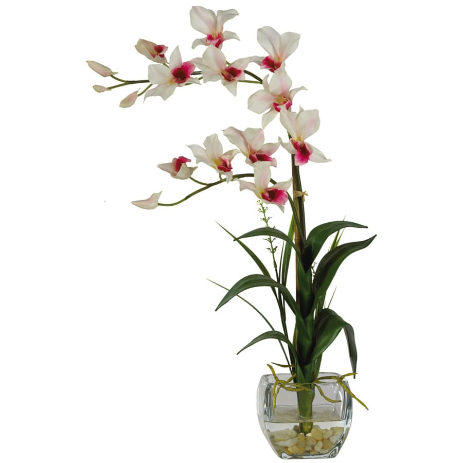 Shop Nearly Natural 22-in White Dendrobium Orchid at Lowes.com