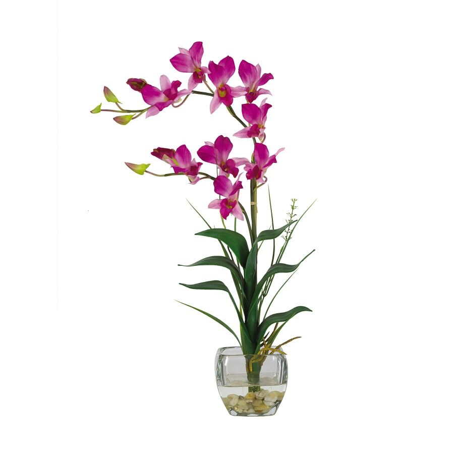 Nearly Natural 22-in Purple Dendrobium