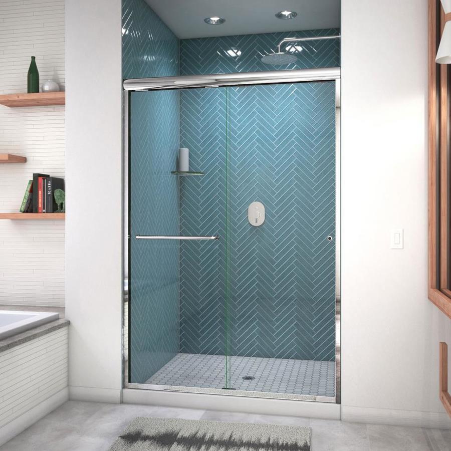 Arizona Shower Door Euro 44-in to 48-in W x 70.5-in H Chrome Sliding Shower Door