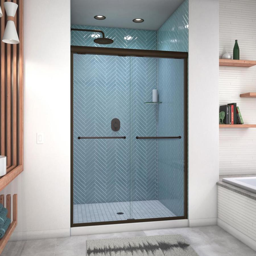 Arizona Shower Door Euro 44-in to 48-in W x 70.5-in H Oil-Rubbed Bronze Sliding Shower Door