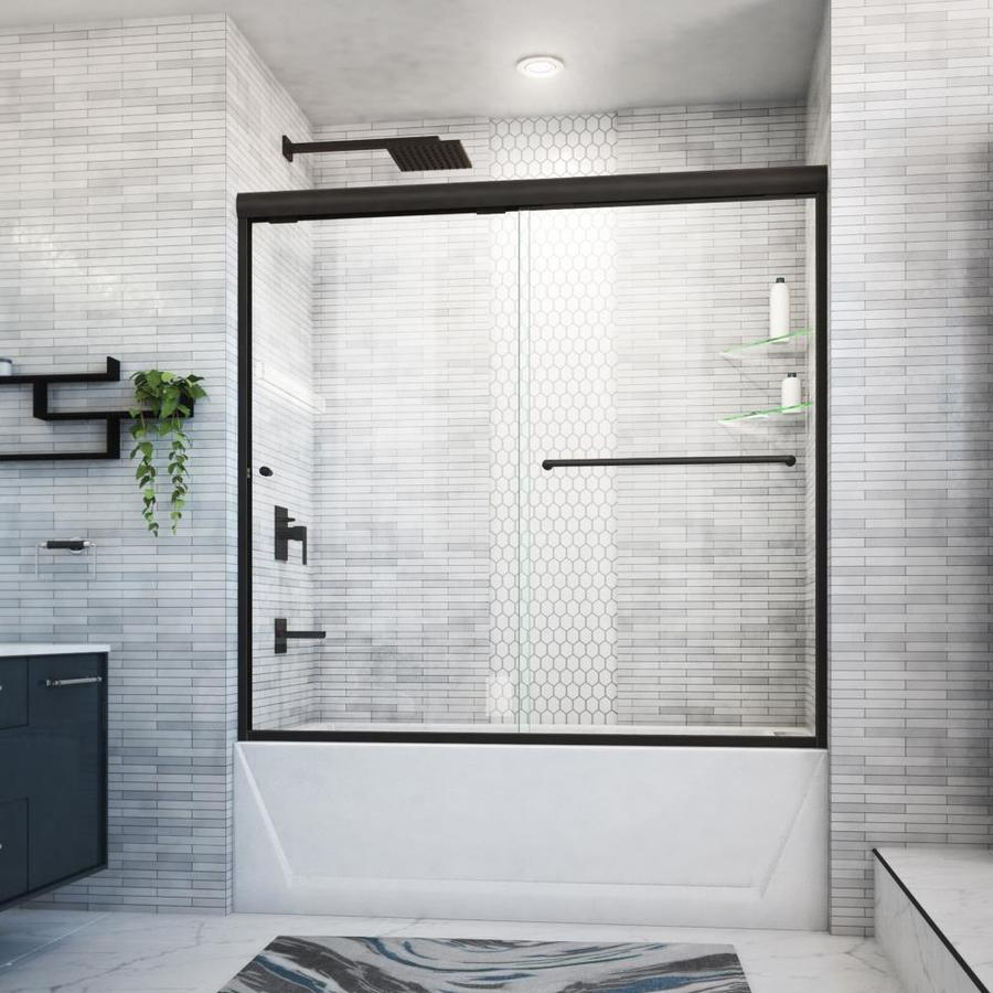 Arizona Shower Door Euro 56-in to 60-in W x 57.5-in H Oil-Rubbed Bronze Sliding Shower Door