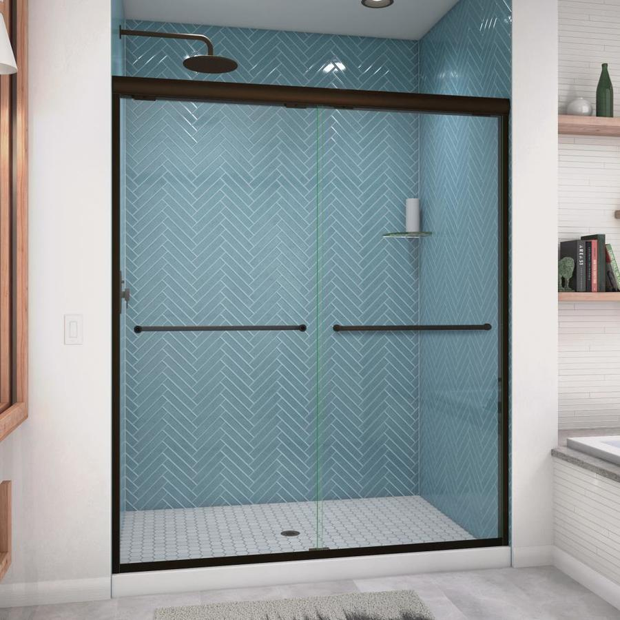Arizona Shower Door Euro 56-in to 60-in W x 70.5-in H Oil-Rubbed Bronze Sliding Shower Door