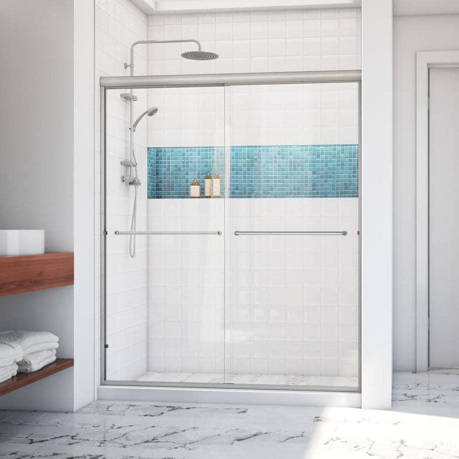Arizona Shower Door Euro 56-in to 60-in W x 70.5-in H Brushed Nickel Sliding Shower Door